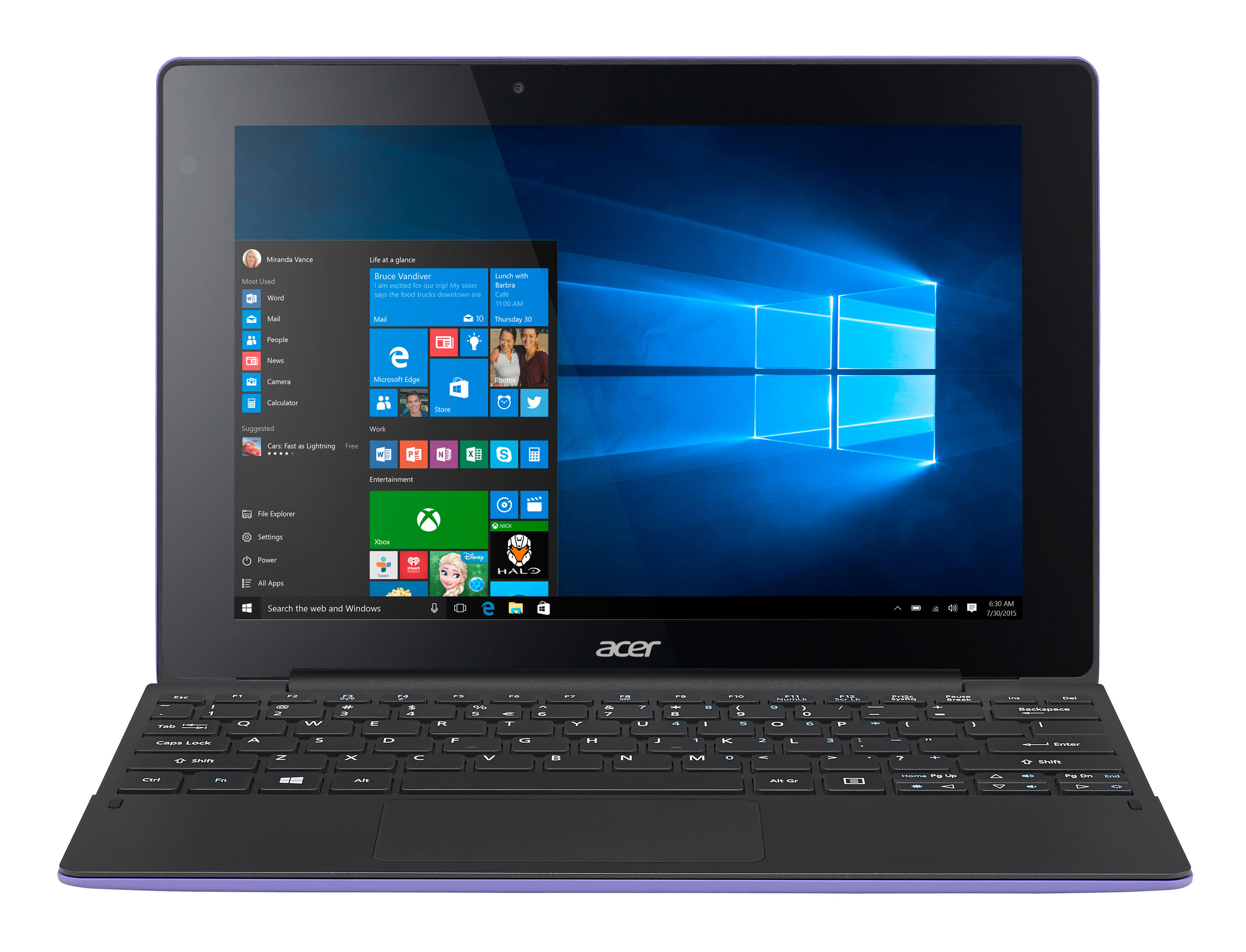 Acer Switch 10E Intel Atom 2Gb 32GB Emmc Ssd 10 Touchscreen 2 In 1 Laptop