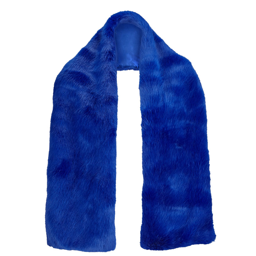 Cobalt Faux Fur Collar