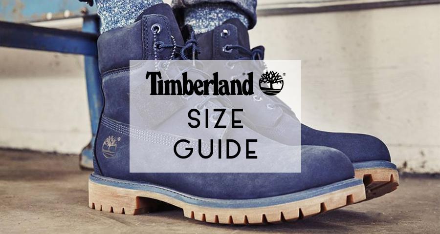 timberland uk size guide