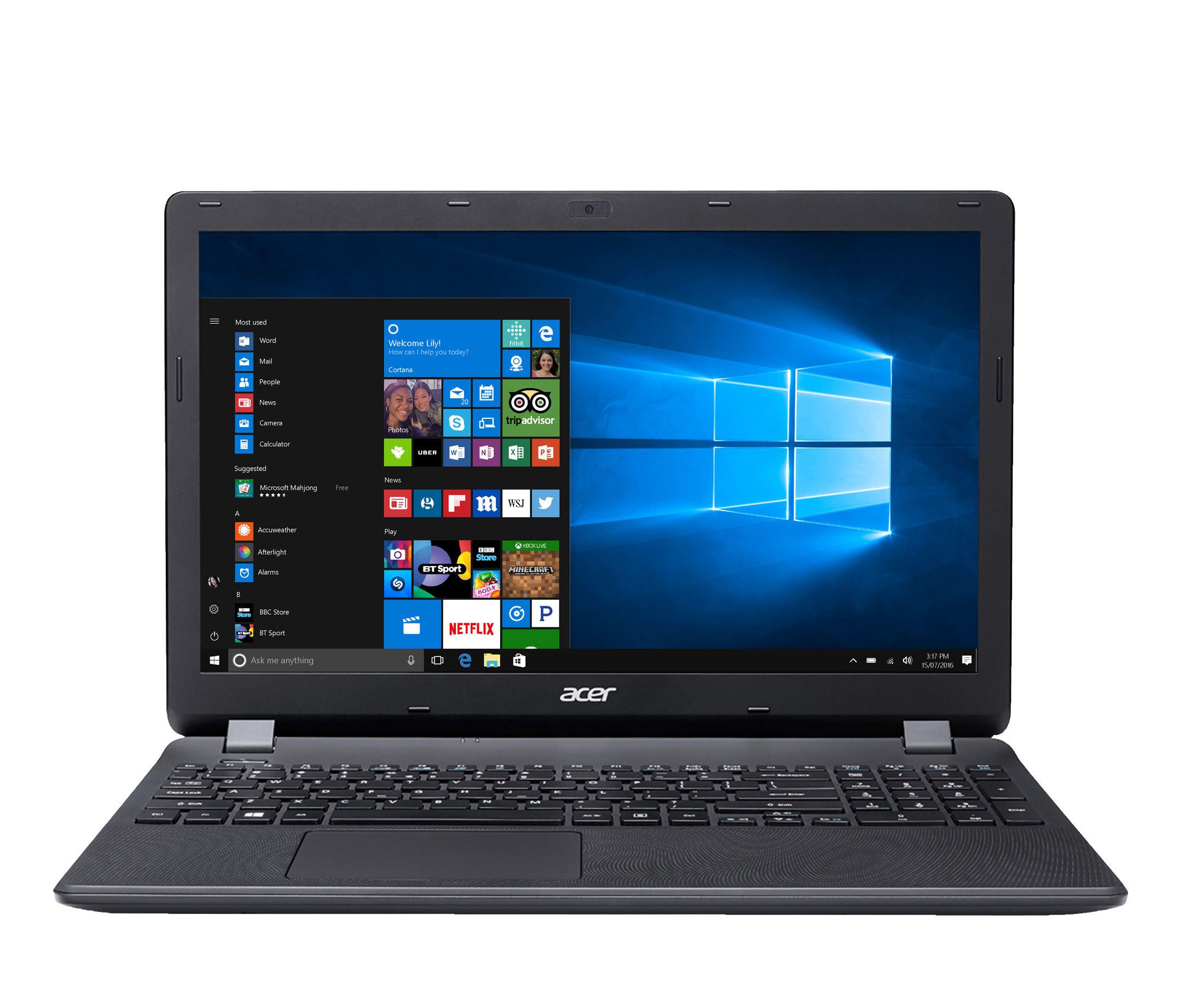 Acer Aspire ES 15 ES157134WU 6GB RAM 128GB SSD 156 Notebook