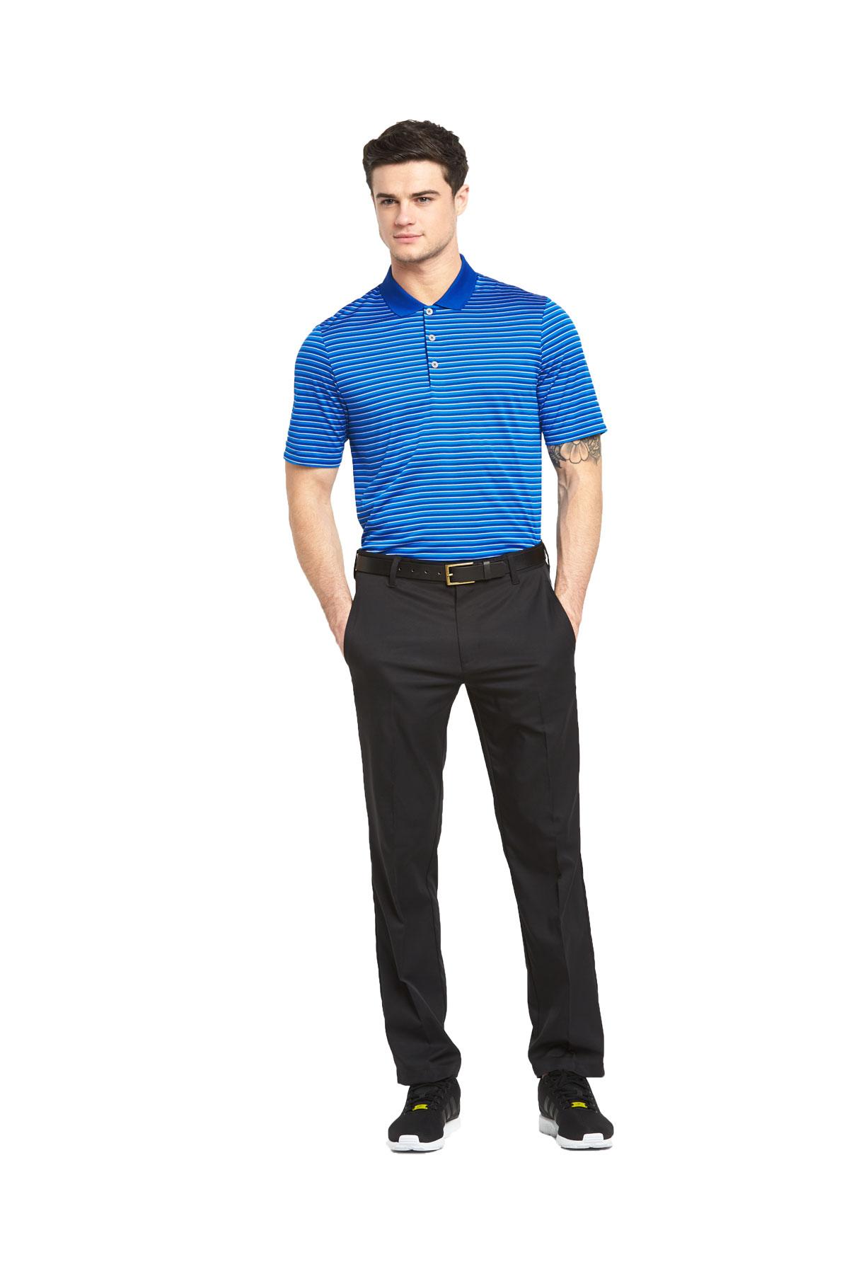 Adidas Mens Golf Tournament 3 Colour Stripe Polo Shirt