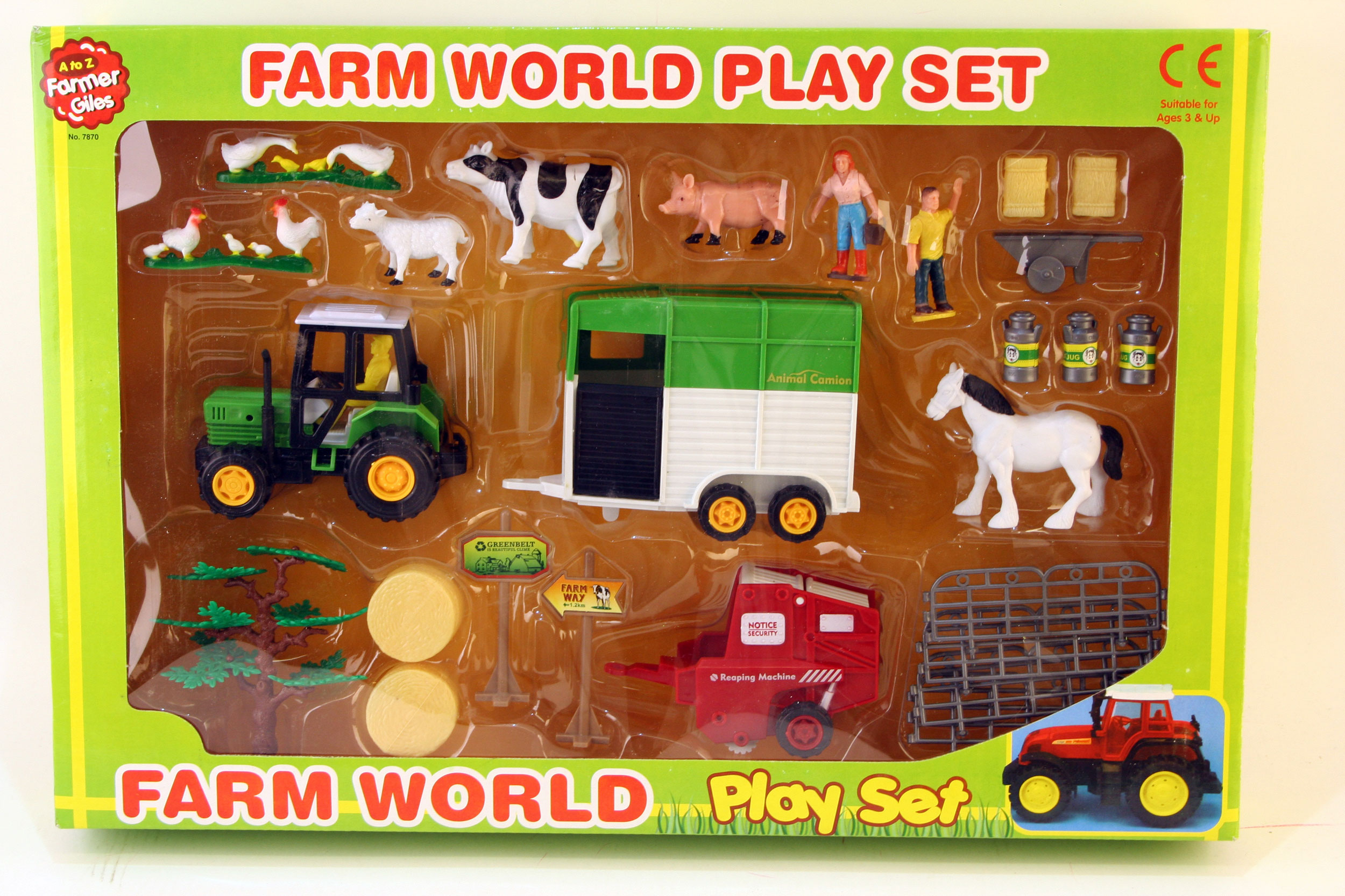 A to Z Farmer Girls Farm World Play Set