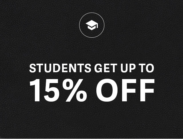 Students Get up to 15% Off
