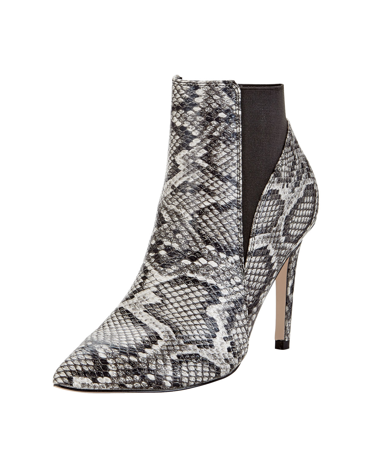 Lipsy Bailey Snake Print Heeled Ankle Boot