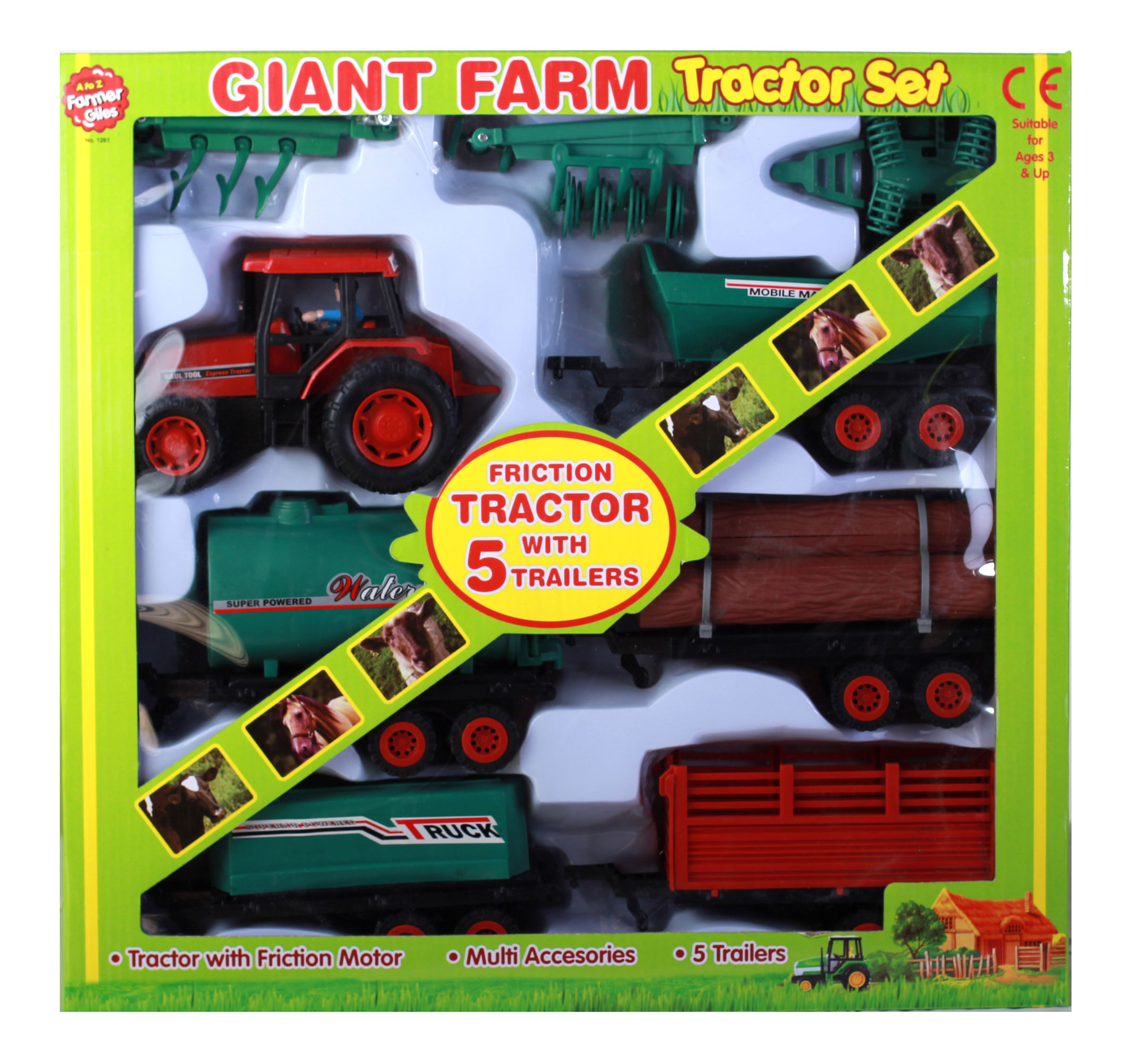 Giant Farm Tractor Set