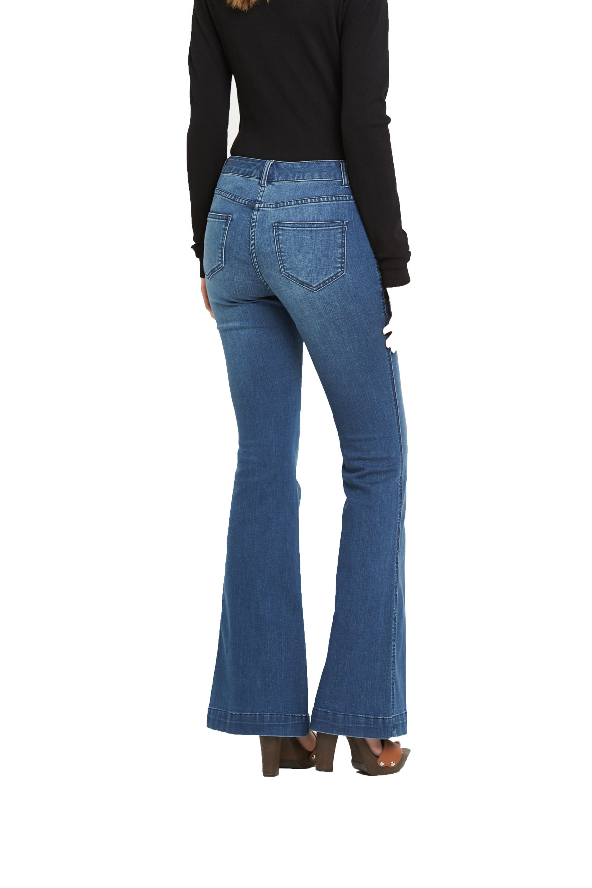 V By Very Welt Pocket Kickflare Jeans
