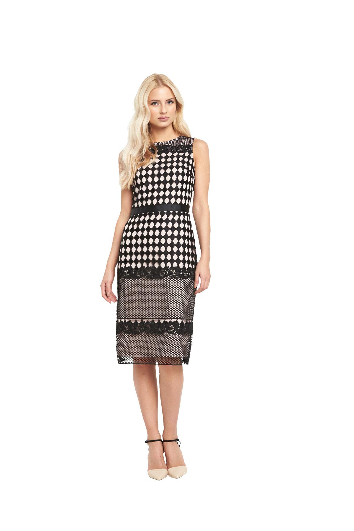 Miss Selfridge  Geo Lace Pencil Dress