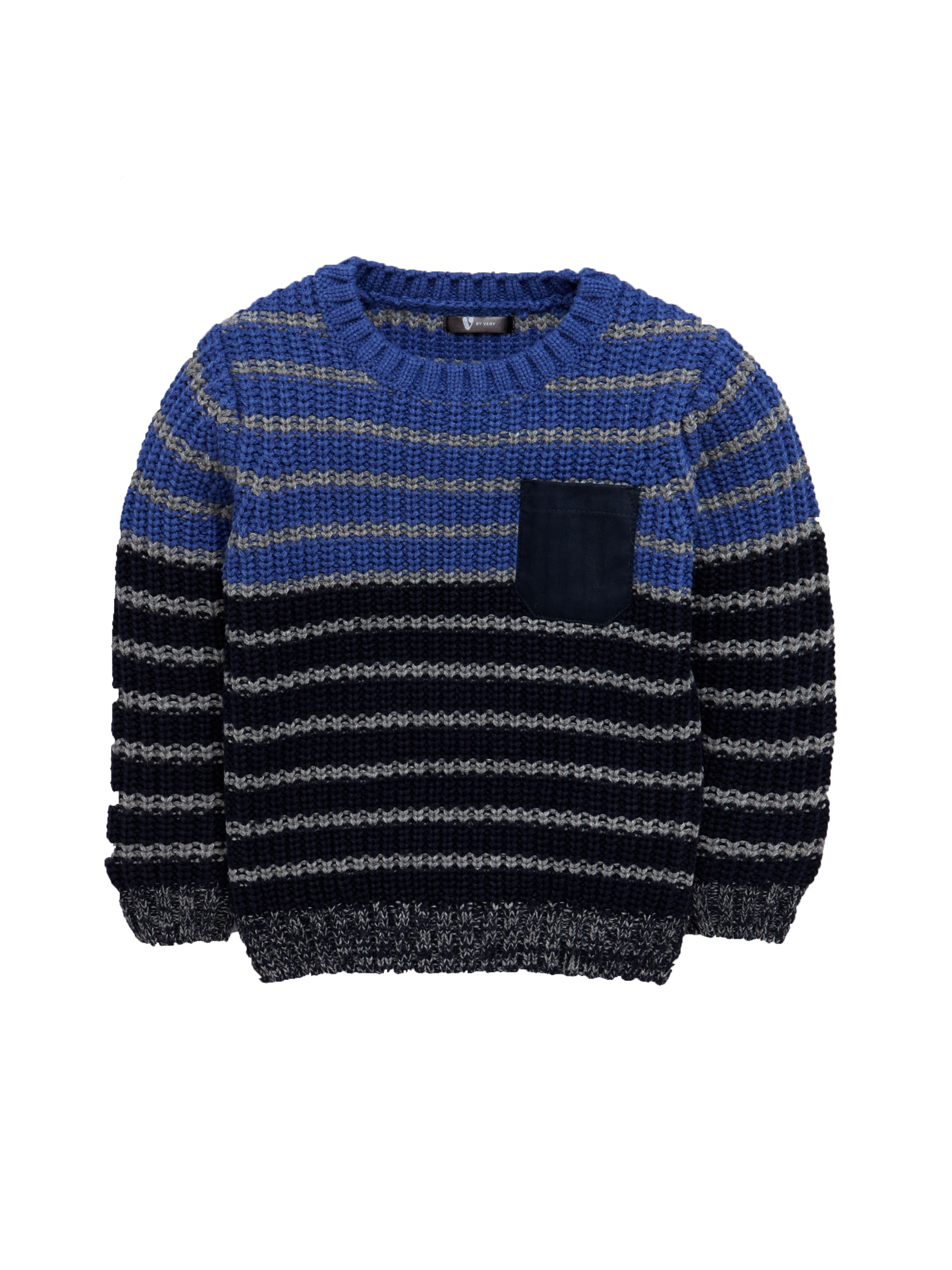 Mini V by Very Boys Stripe Knitted Jumper.