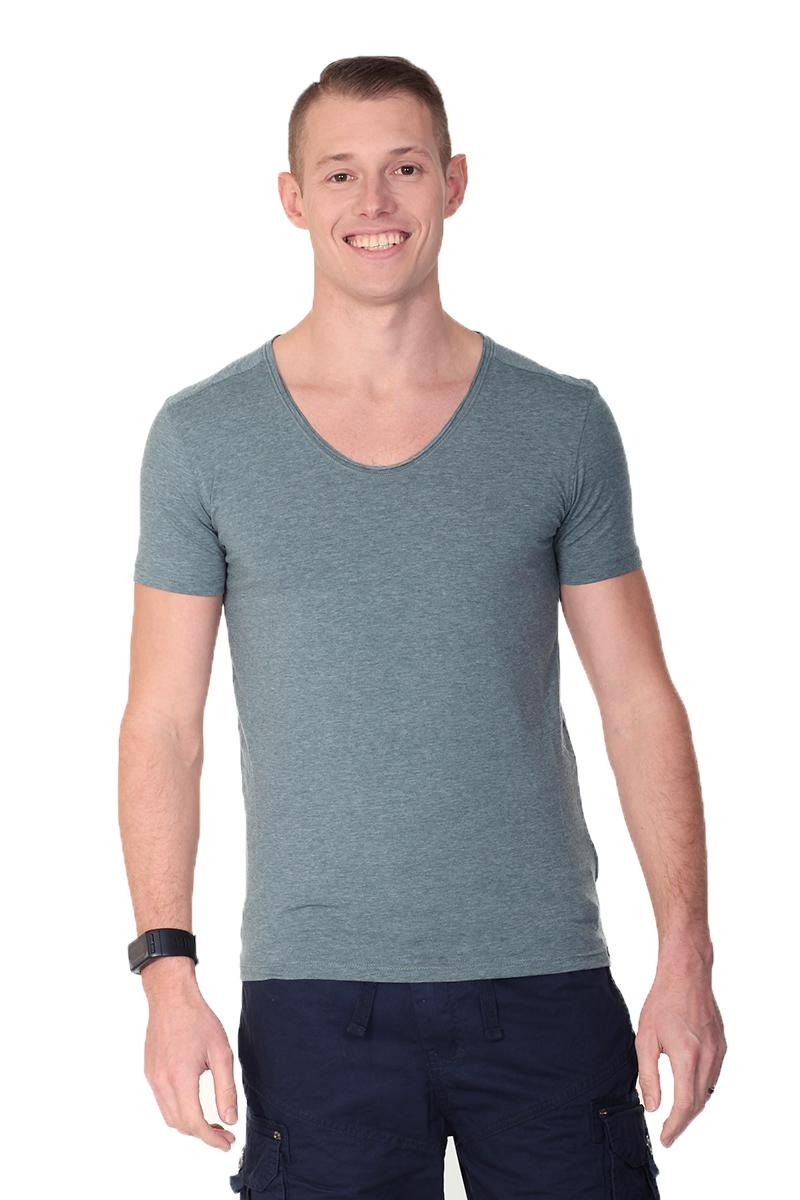 Smith  Jones Mens Peripteral V Neck T-shirt