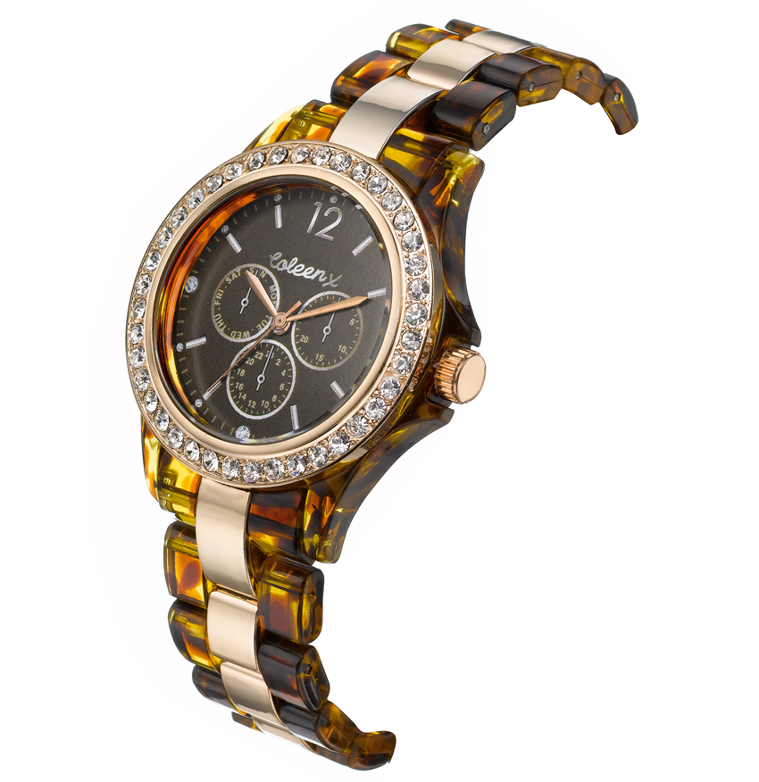 Coleen Ladies Tortoise Shell Sports Watch