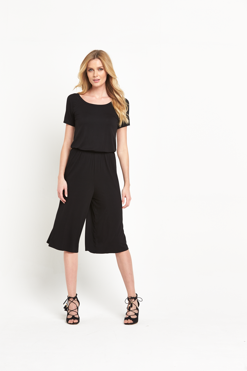 V by Very Cut Out Back Cullotte Jersey Jumpsuit