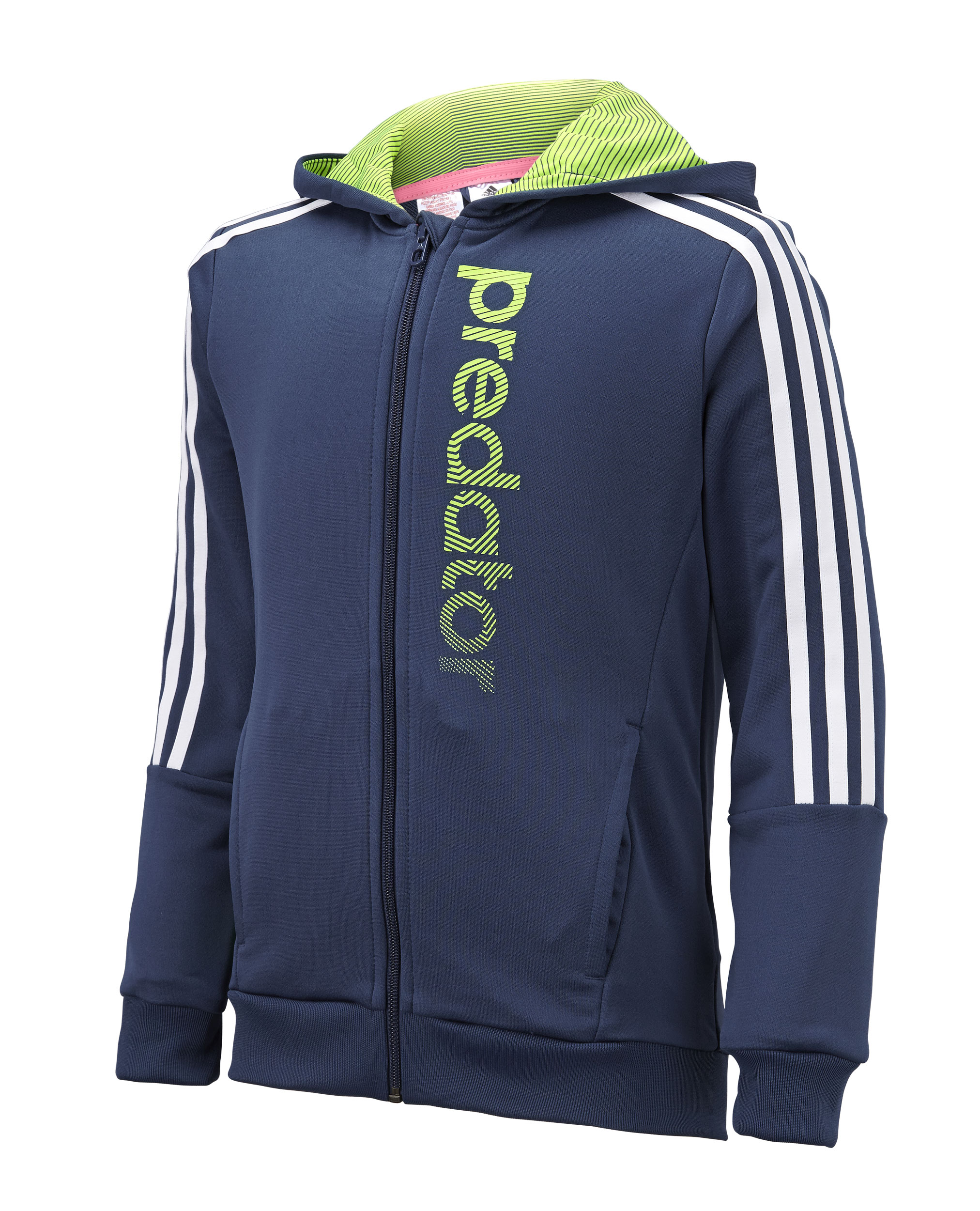 Adidas Junior Boys Predator Full Zip Knitted Hoody