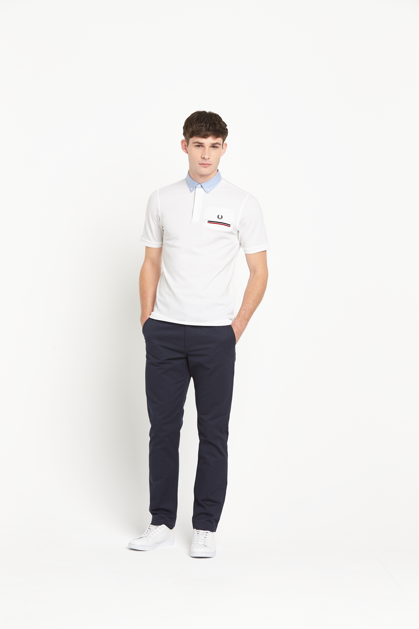 Fred Perry Woven Collar Polo Shirt