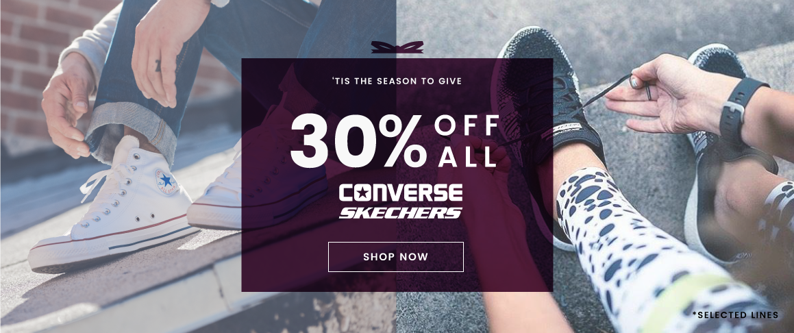 30% off converse and skechers