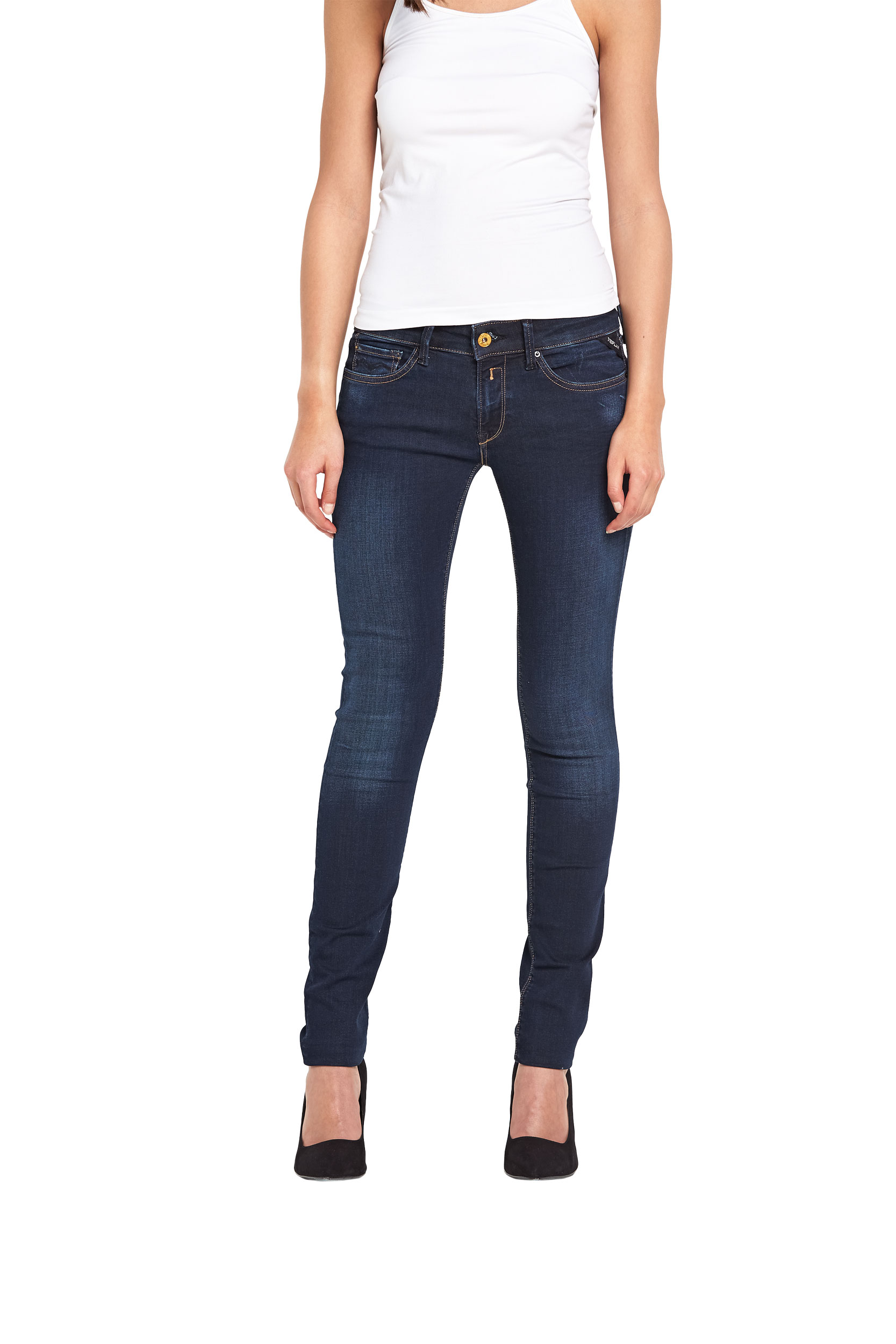 Replay Luz Mid Rise Super Skinny Jeans