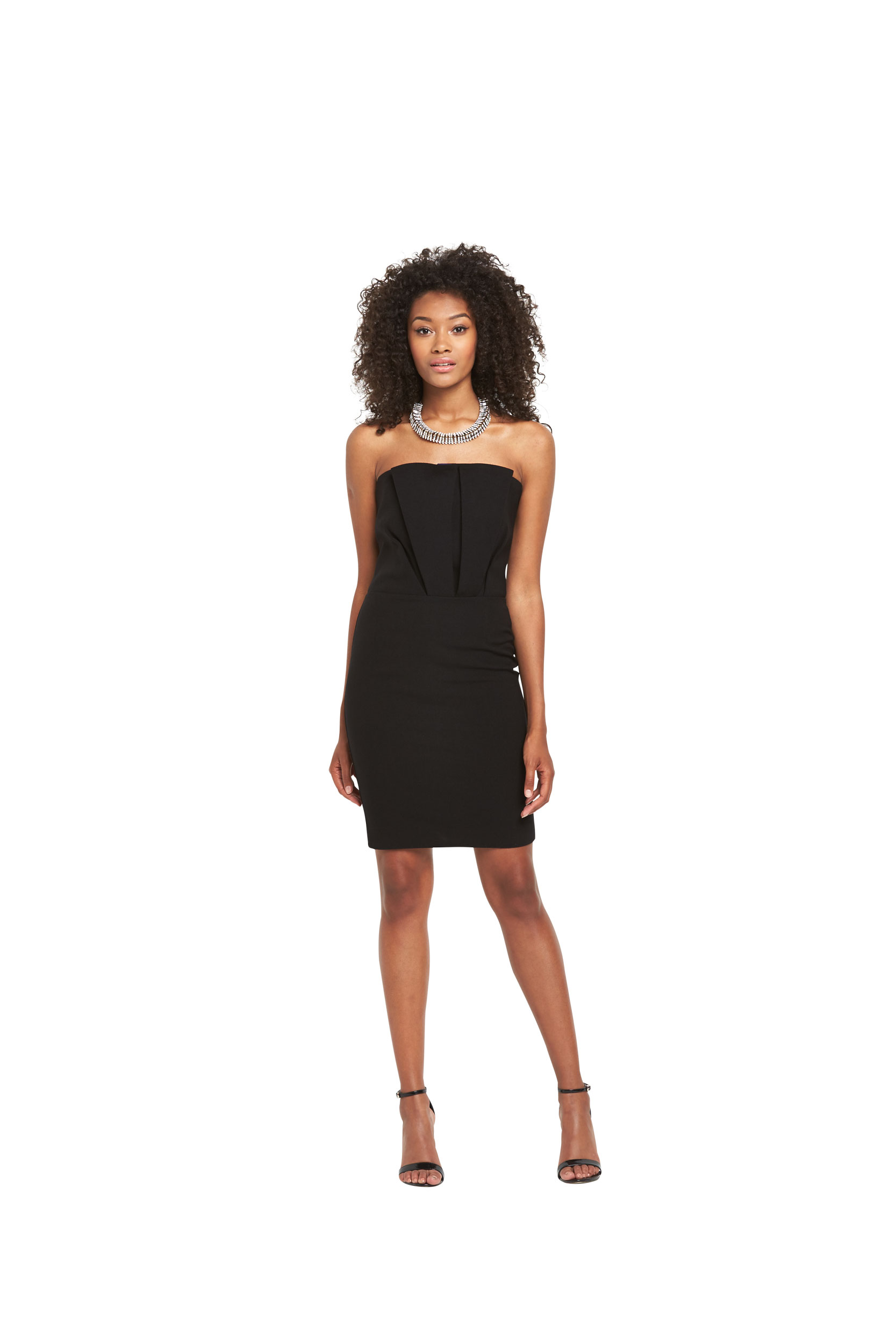 Definitions Bandeau Ruffle Dress