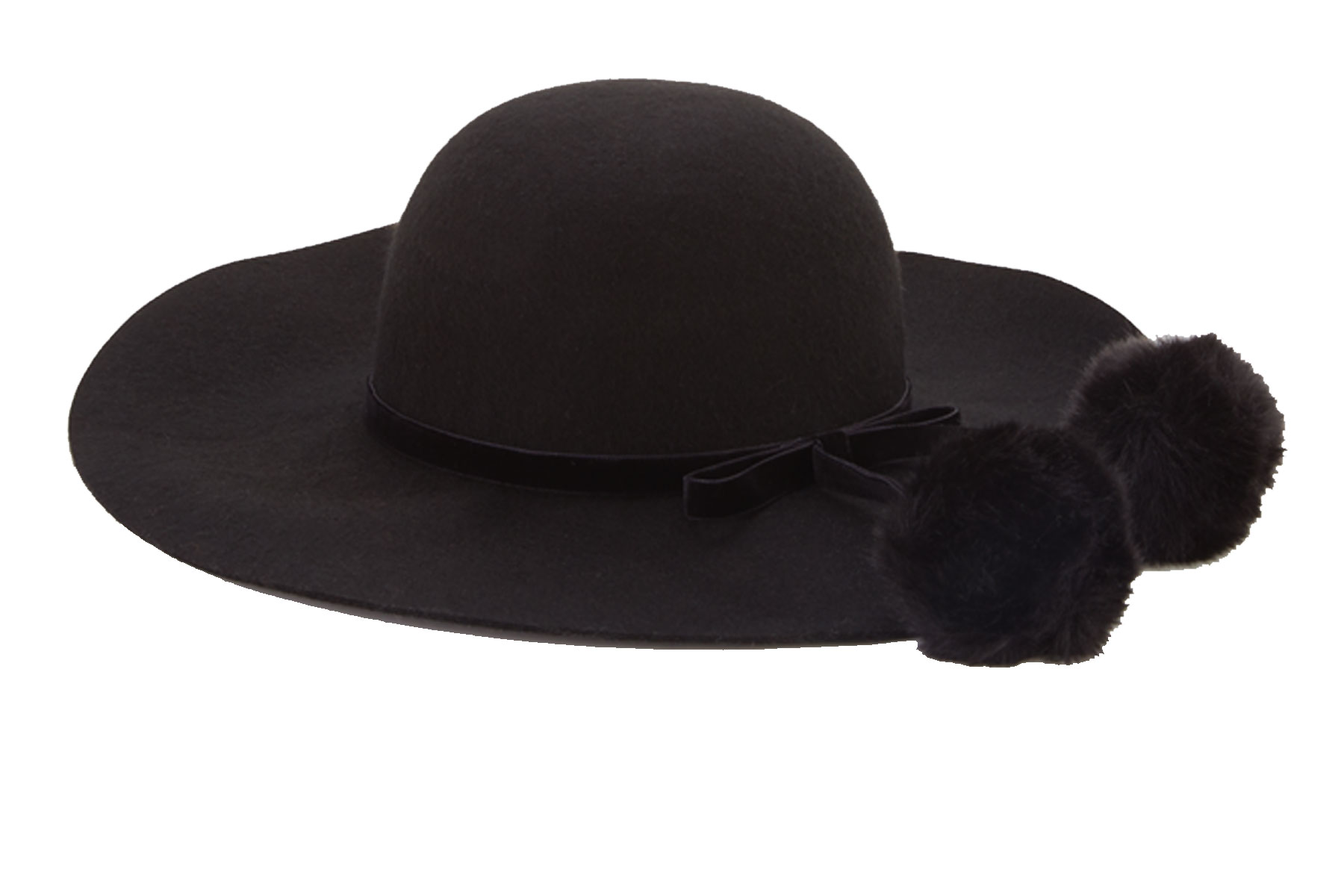 Fur Trim Floppy Hat