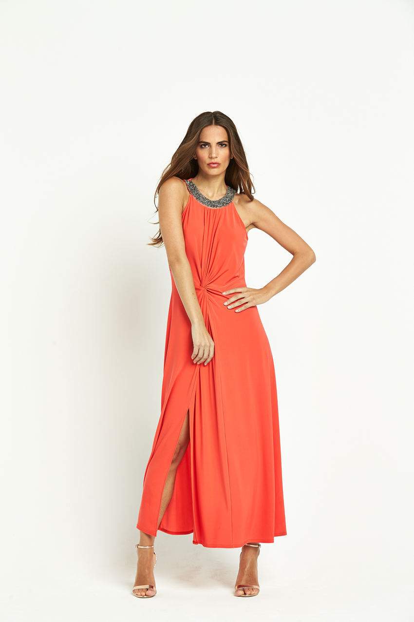 Wallis Embellished Neck Knot Maxi Dress
