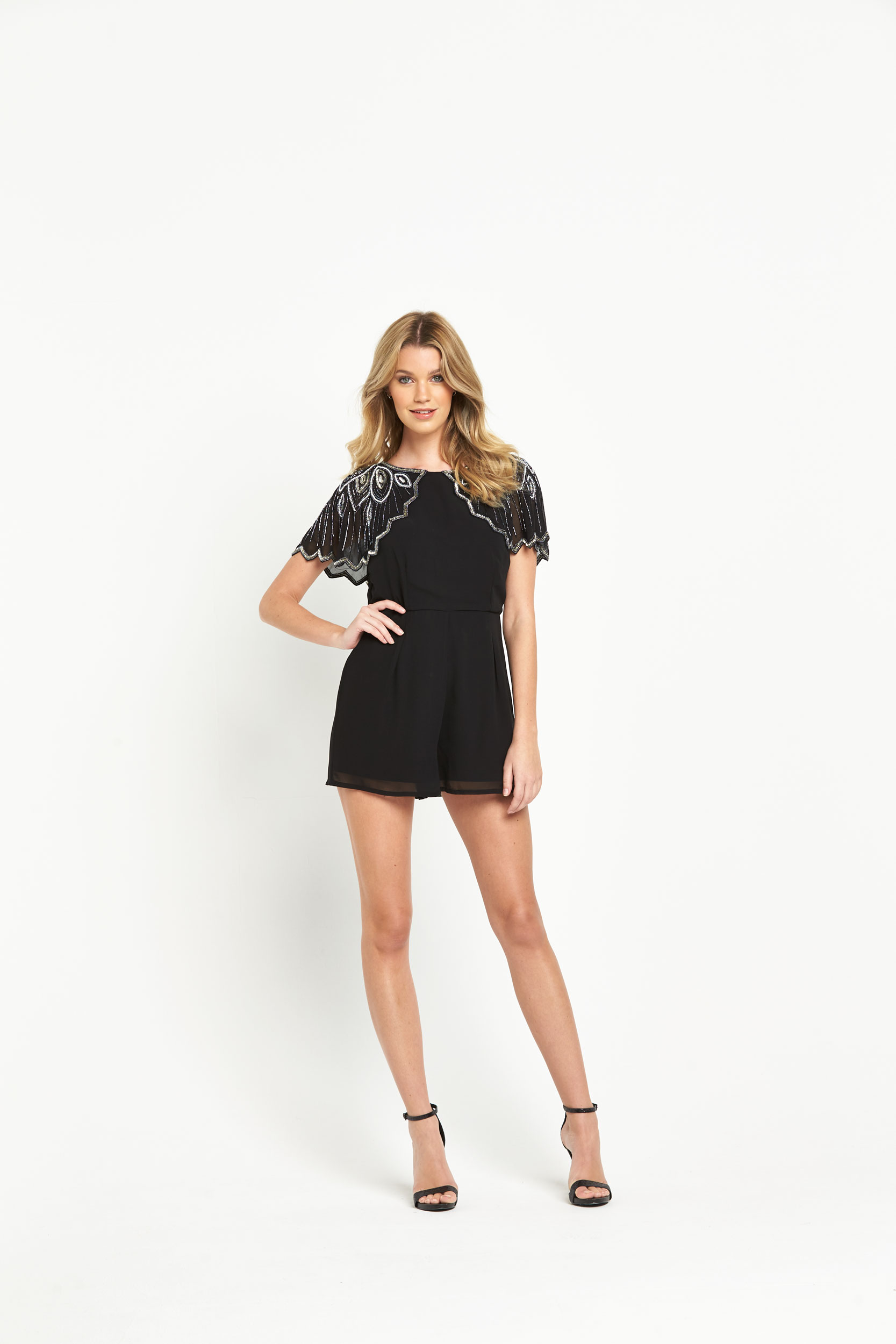 V By Very Beaded Playsuit