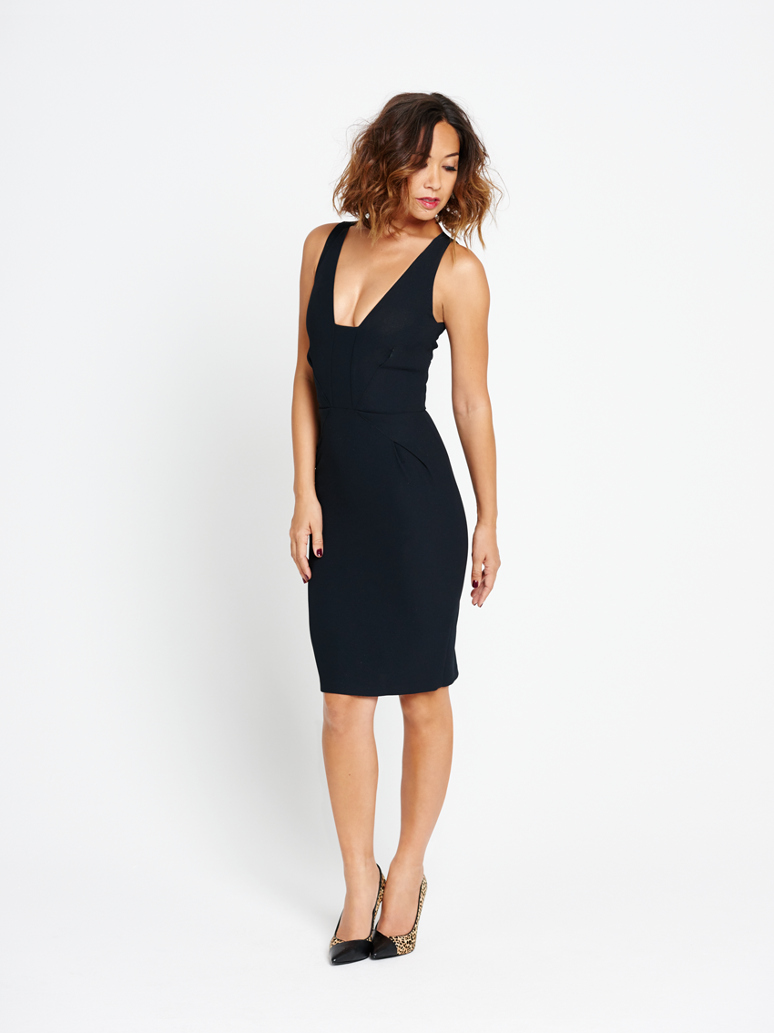 Myleene Klass Deep Neckline Pencil Dress