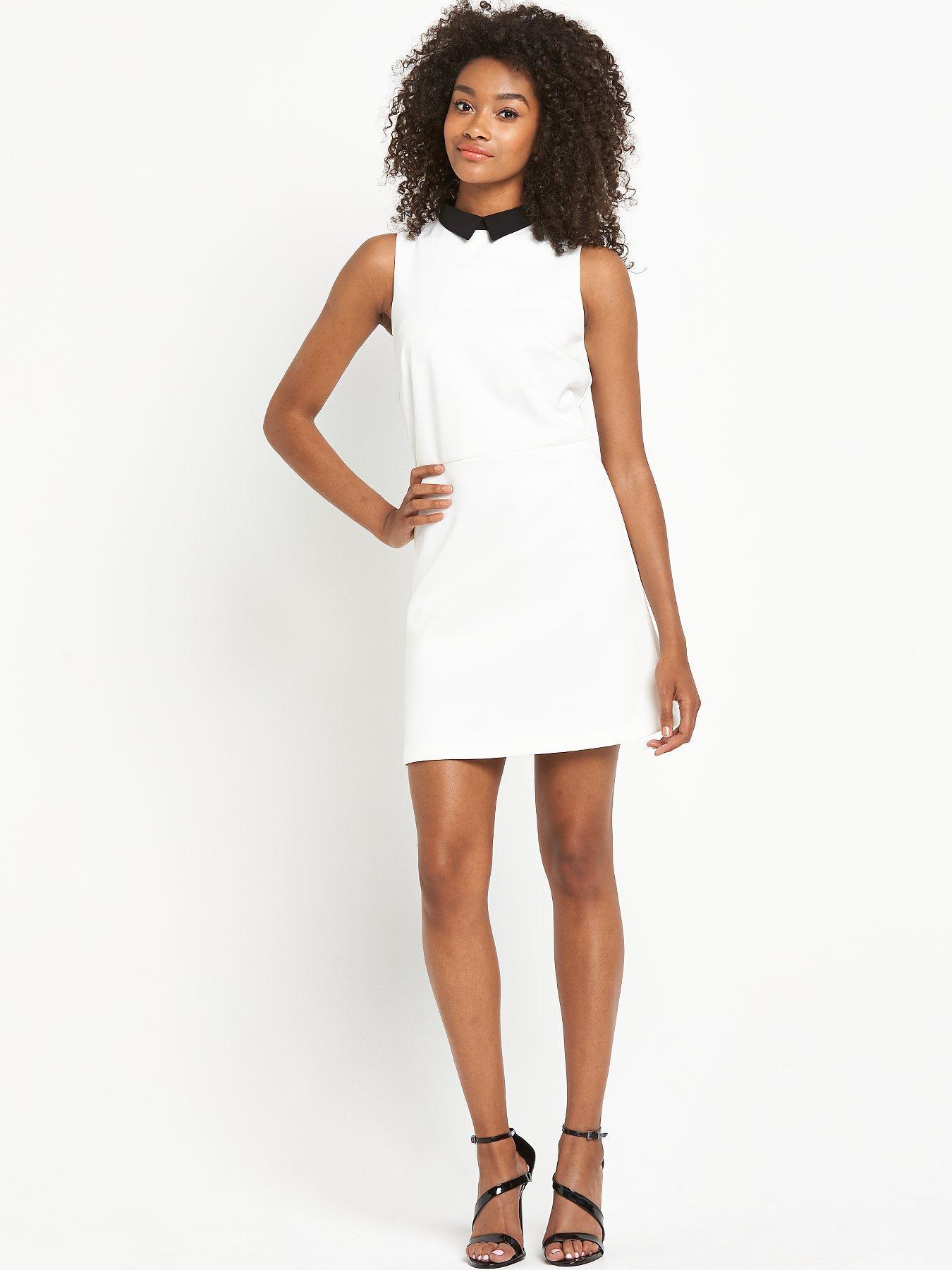 Definitions Mono Aline Collar Dress.