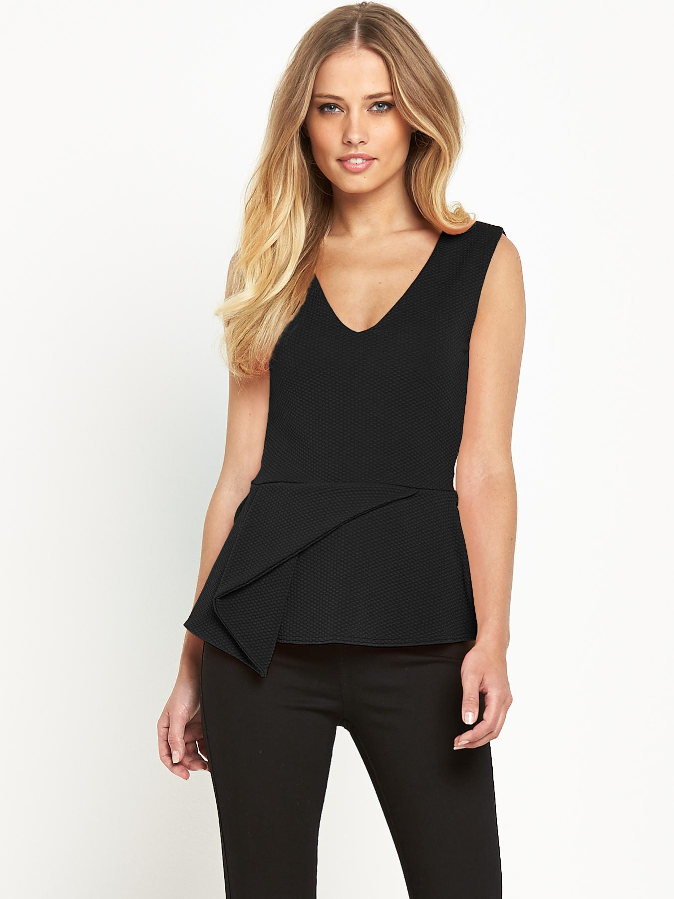 Definitions Aysmetric Peplum Top