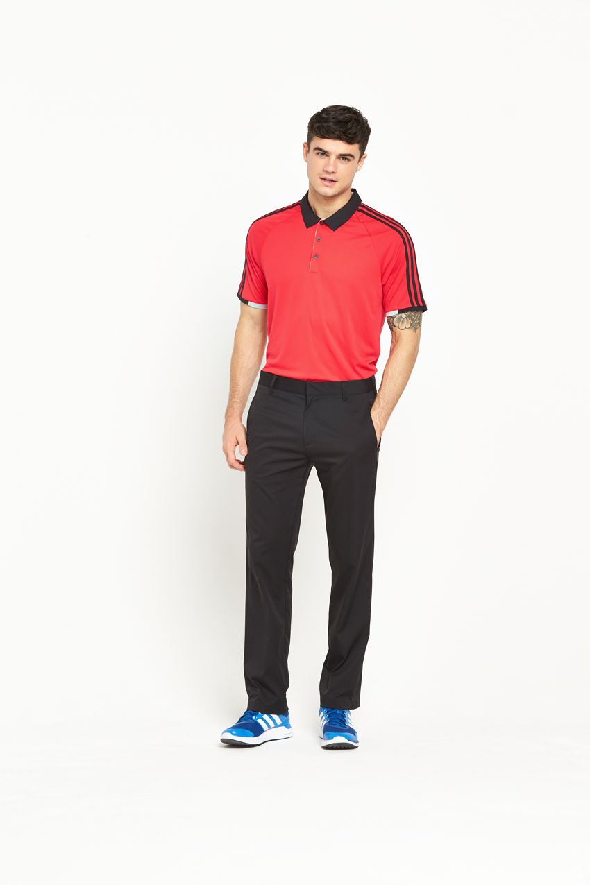 Adidas Mens Golf ClimaChill 3 Stripes Competition Polo