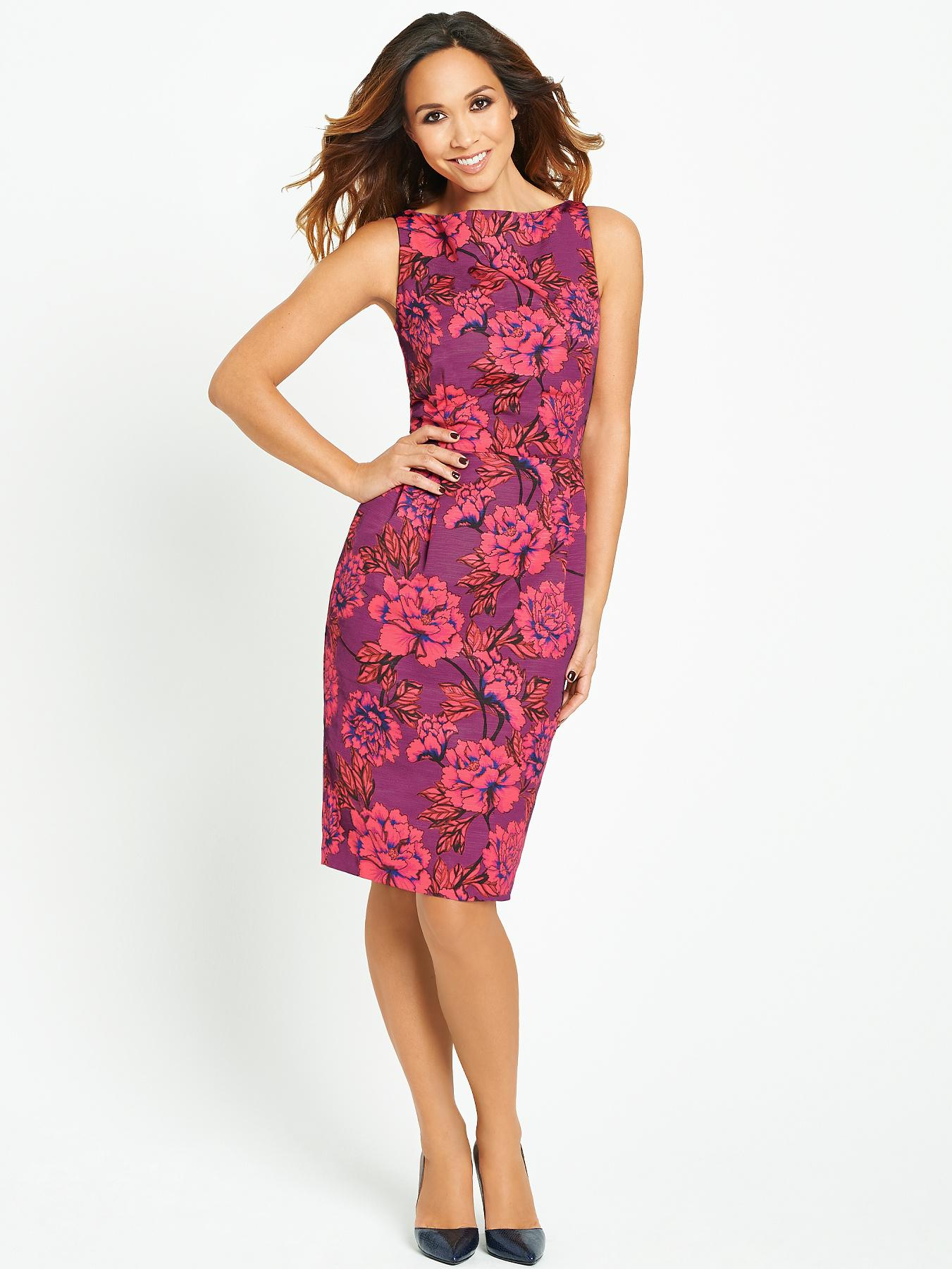Myleene Klass Bright Floral Pencil Dress
