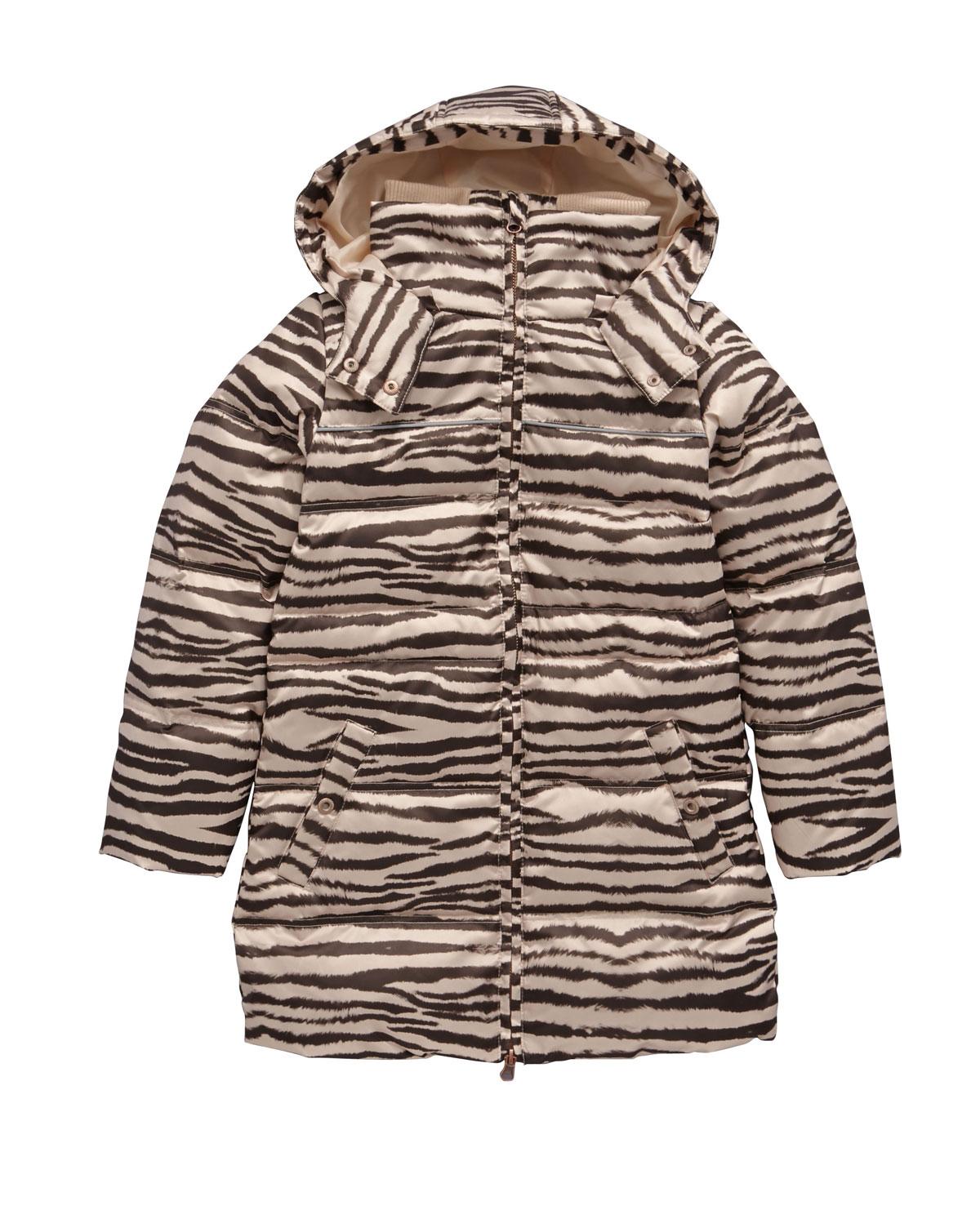Name It Girls Animal Print Down Jacket