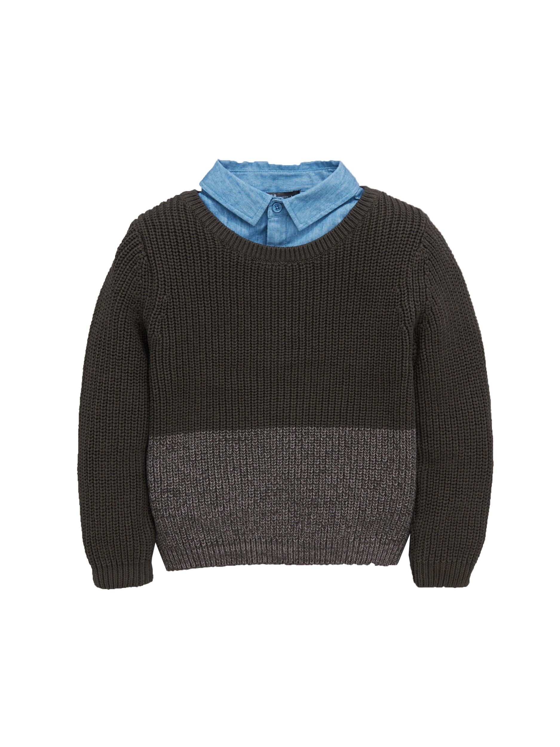 Mini V By Very Boys Mock Layer Shirt Jumper.