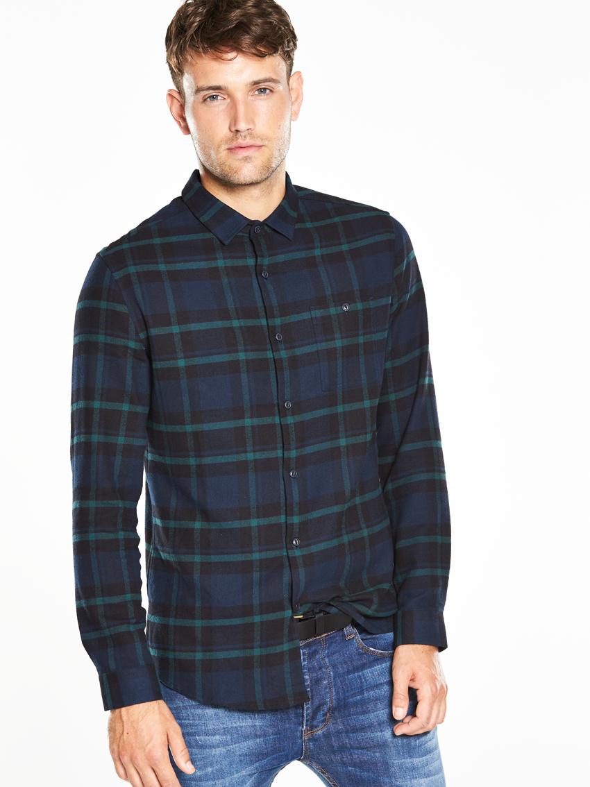 V by Very Long Sleeved Check Shirt