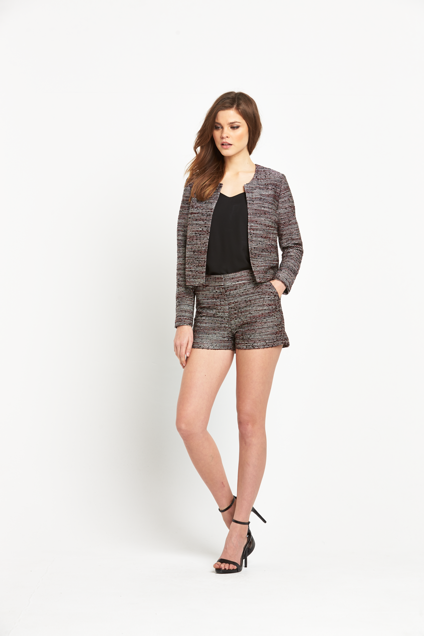 V By Very Textured Short Jacket