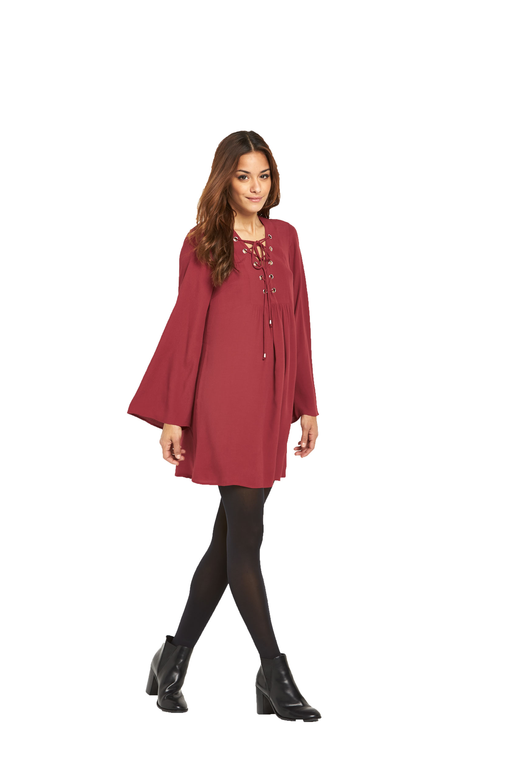 South Bell Sleeve Lace Up Front Tunic