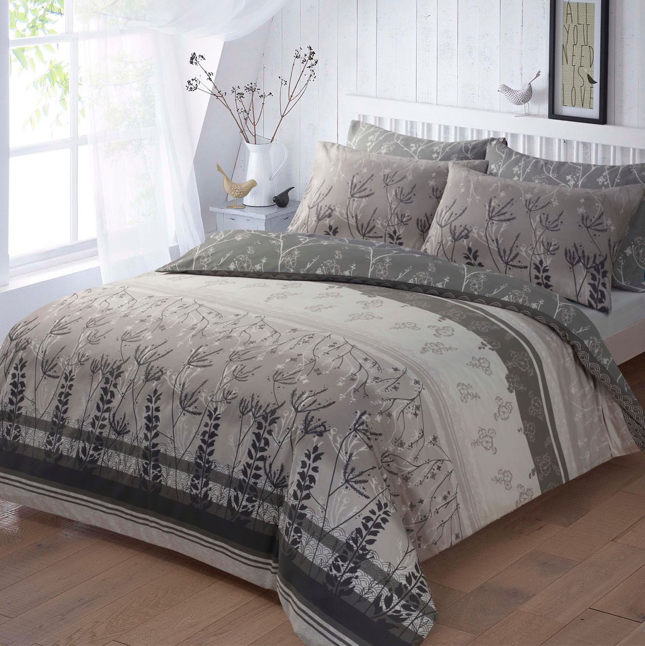 Garden Print Duvet Set - Double.